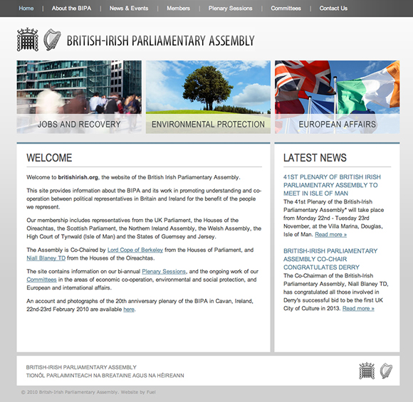 The British Irish Parliamentary Assembly