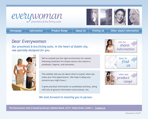 Everywoman prosthesis & bra fitting suite