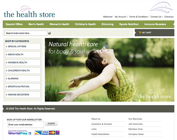 The Health Store Website